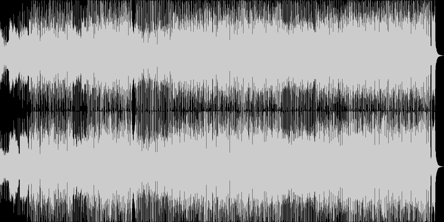 ブラスとカッティング、ファンクポップの未再生の波形