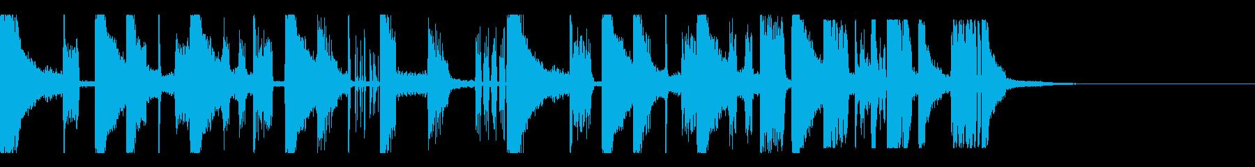 ジャージークラブなシンキングタイム音の再生済みの波形