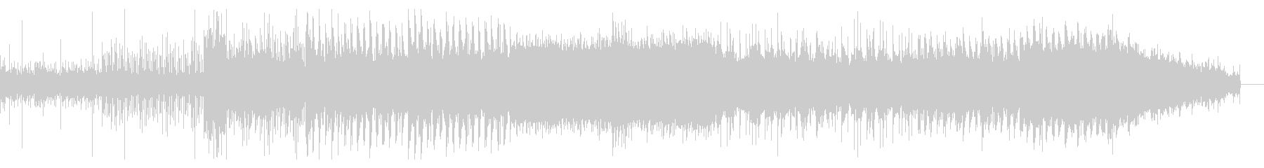 徐々に迫るデジタルシネマティックBGMの未再生の波形