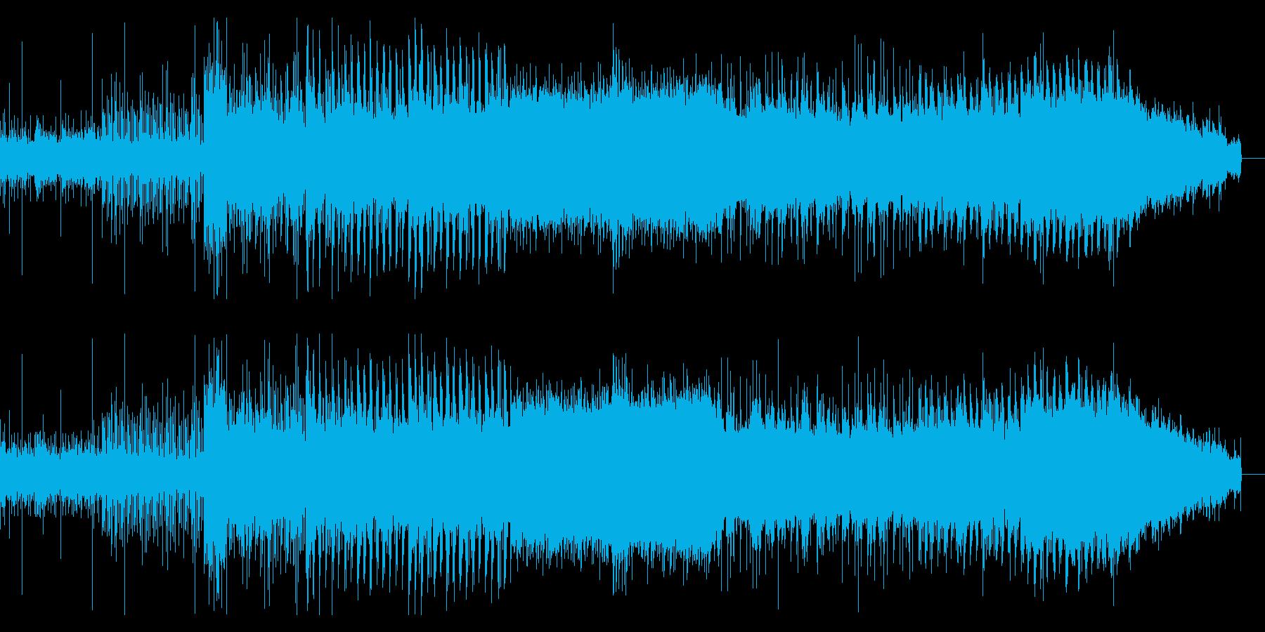 徐々に迫るデジタルシネマティックBGMの再生済みの波形