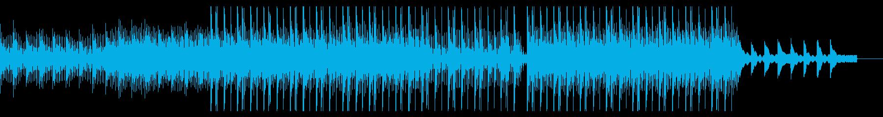 切なさのあるピアノフレーズの曲の再生済みの波形