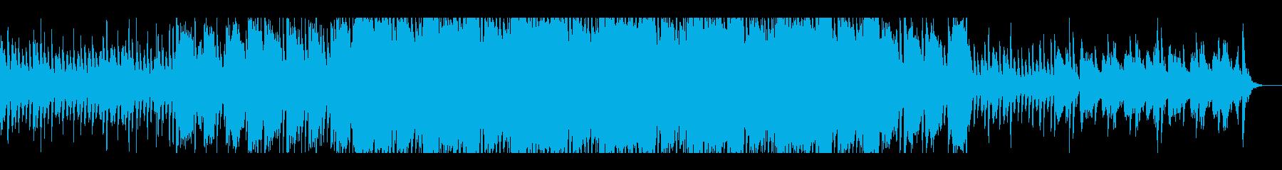 ピアノとバイオリンの洋風ホラーBGMの再生済みの波形