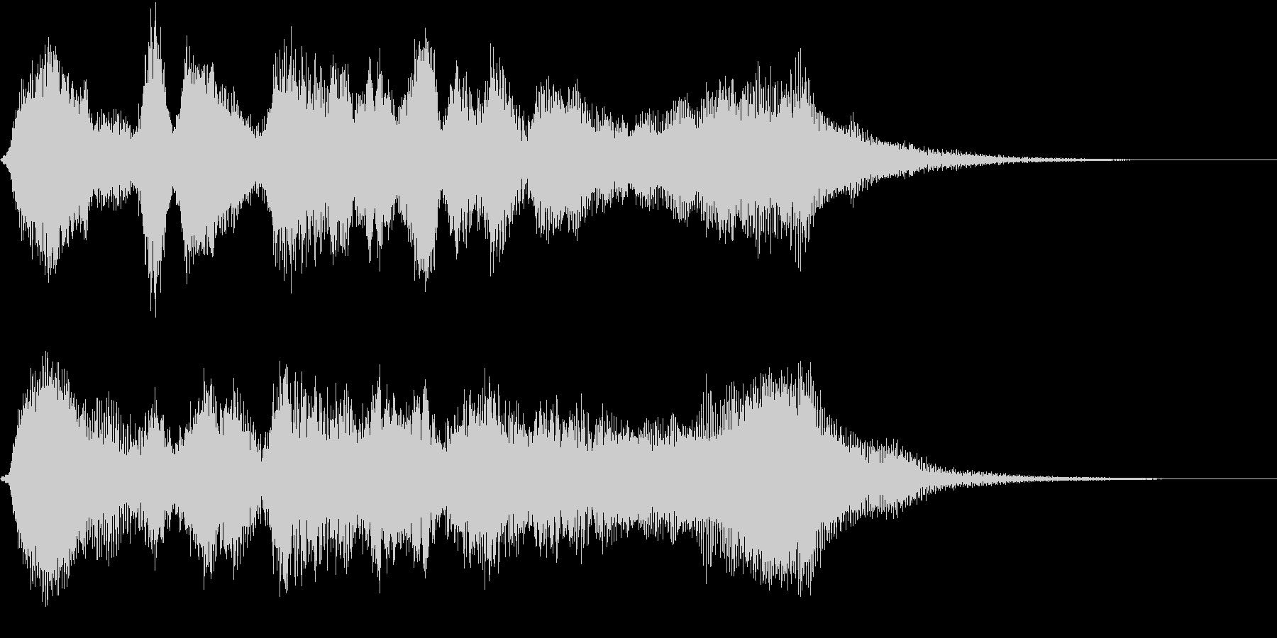 リアル弦楽四重奏のバロック調サウンドの未再生の波形