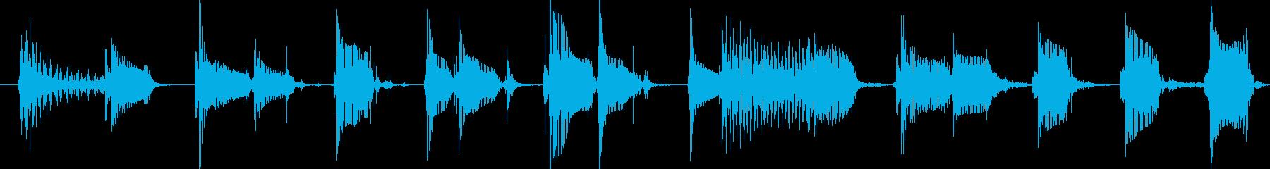 ディストーションギターの再生済みの波形