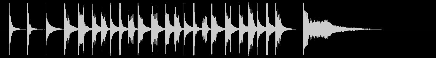 「呑気な人」をイメージ、マリンバとベースの未再生の波形