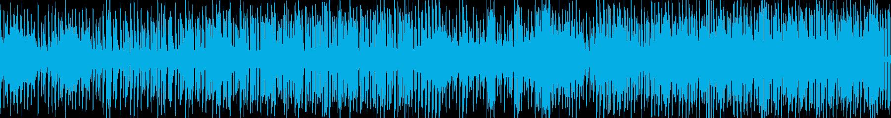 ループ仕様 爽やか4つ打ちエレクトロの再生済みの波形