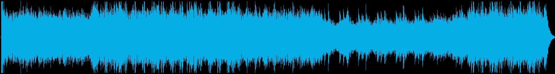 ストリングスと和太鼓による緊迫感の再生済みの波形