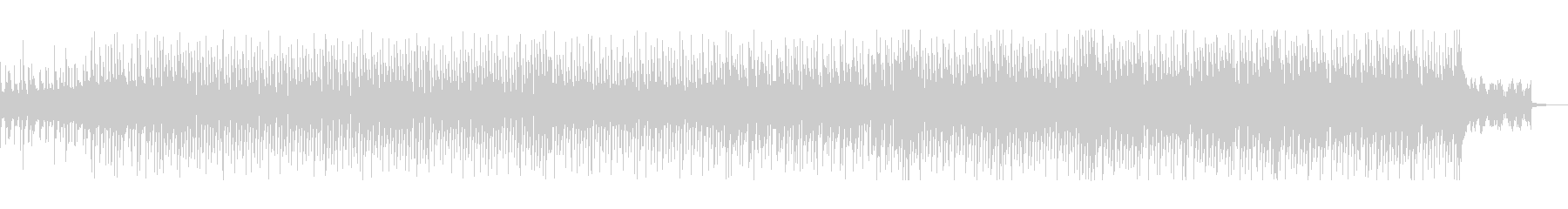 ミステリアスなエレクトロポップの未再生の波形