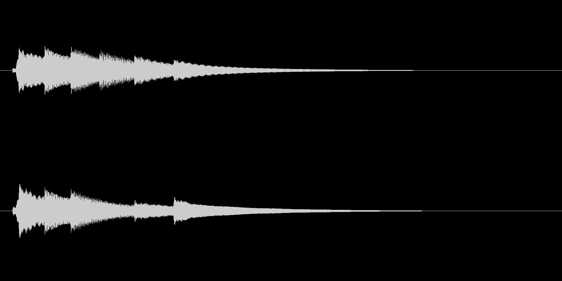 オルゴールのアイキャッチ(明るい)の未再生の波形