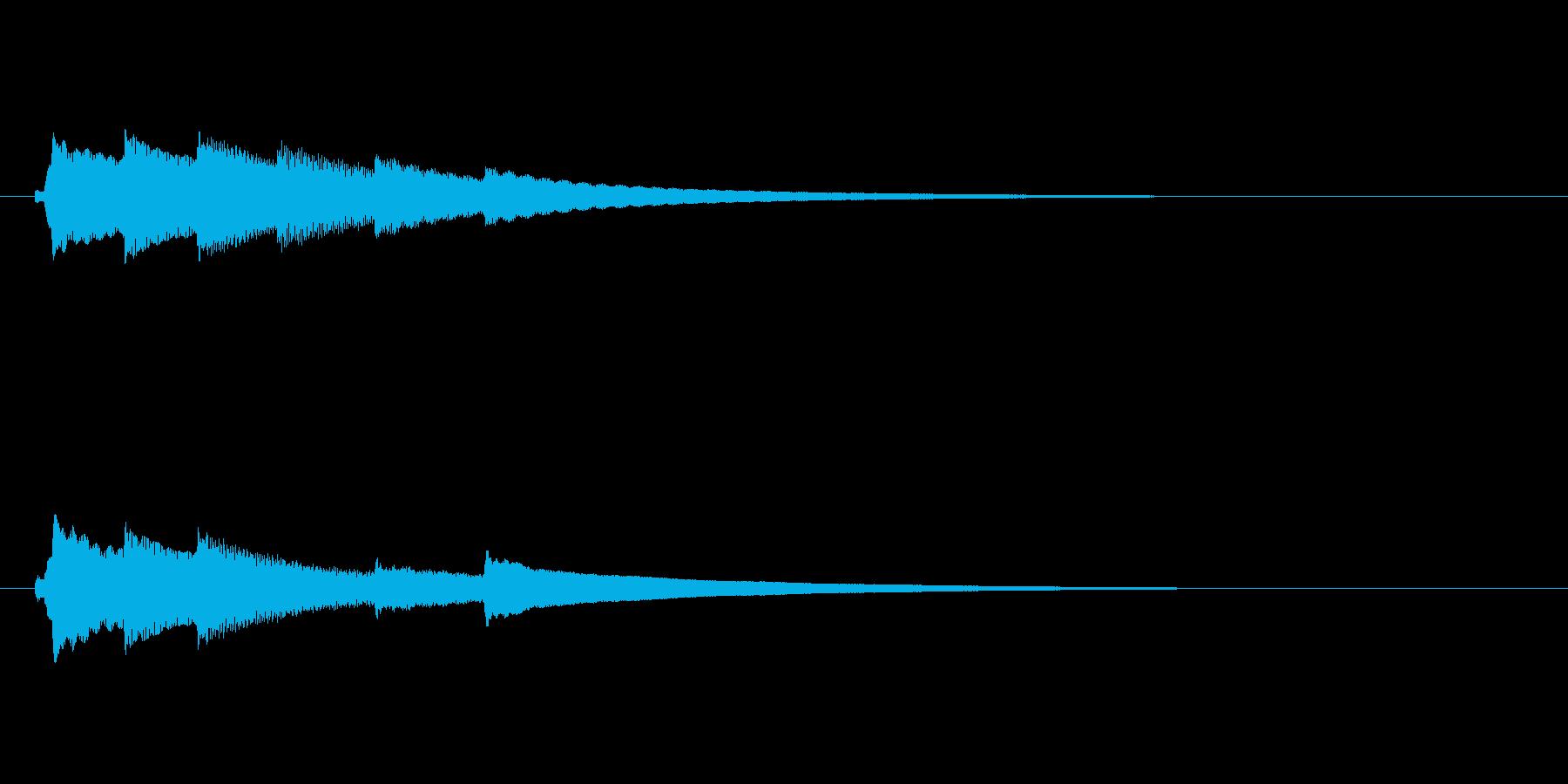 オルゴールのアイキャッチ(明るい)の再生済みの波形