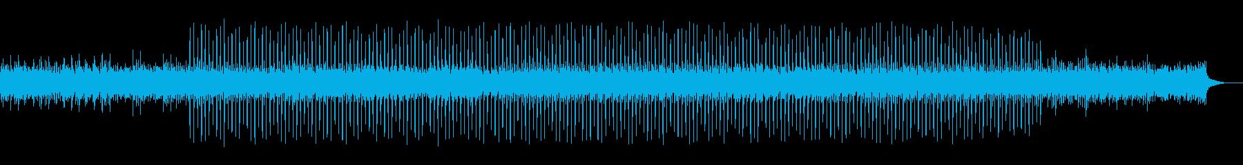シンセによるミディアムテンポの楽曲の再生済みの波形