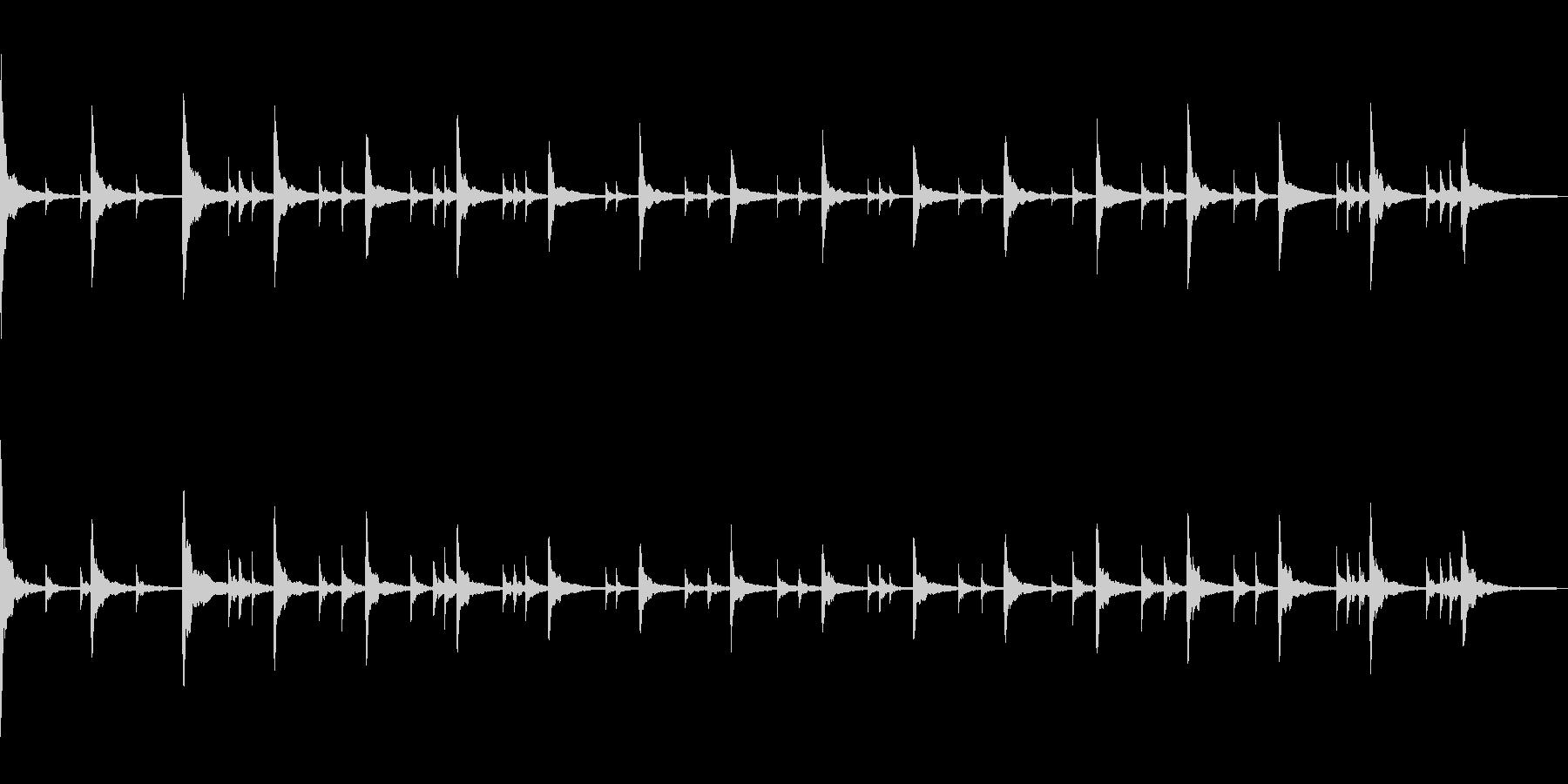 ドキュメンタリー風ピアノソロの未再生の波形