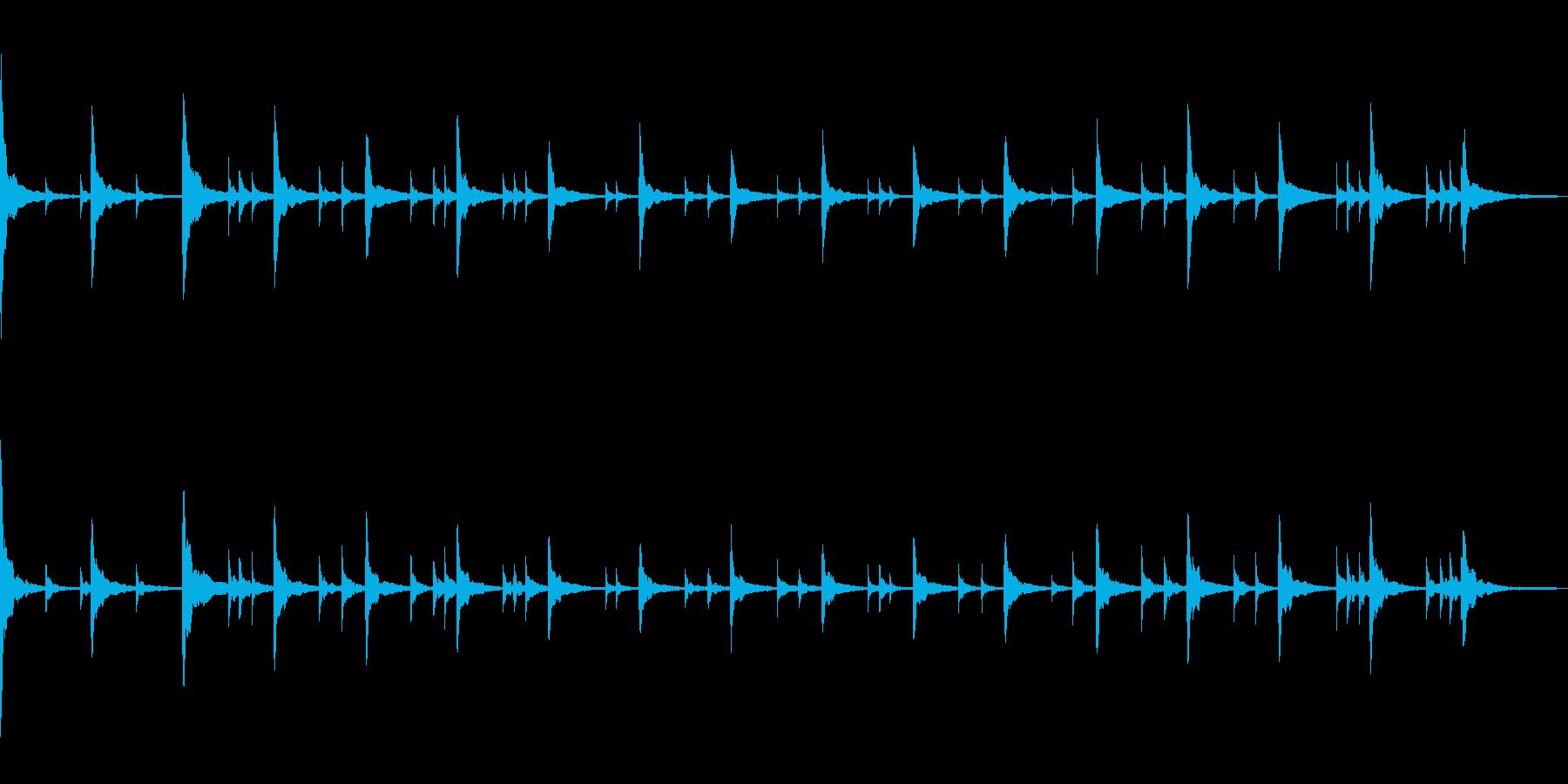 ドキュメンタリー風ピアノソロの再生済みの波形