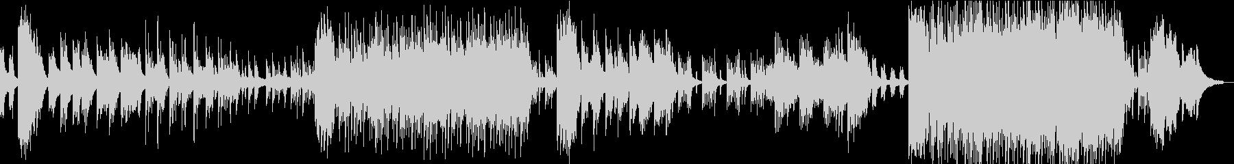 蛍 花火 ノスタルジックなピアノBGMの未再生の波形