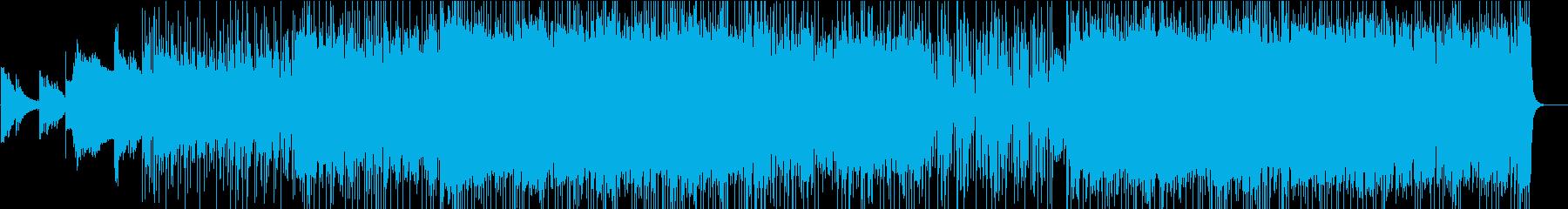 シンプルなロック系ギターインストの再生済みの波形