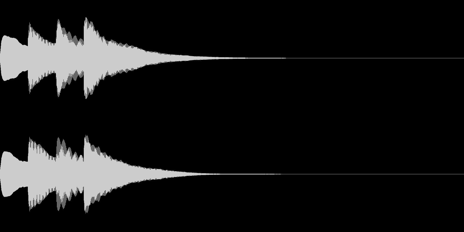 お知らせ・アナウンス音B上昇(速め)04の未再生の波形