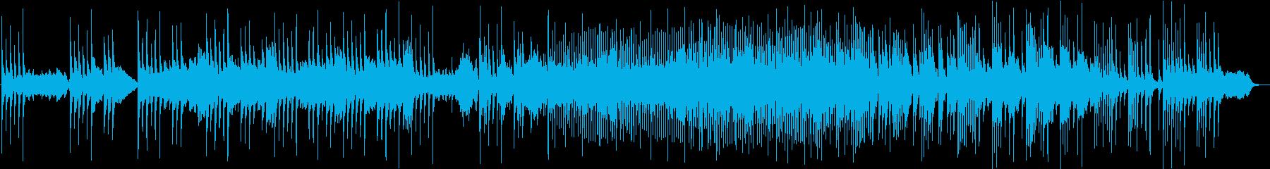アンティークなピアノ。癒しの音楽の再生済みの波形