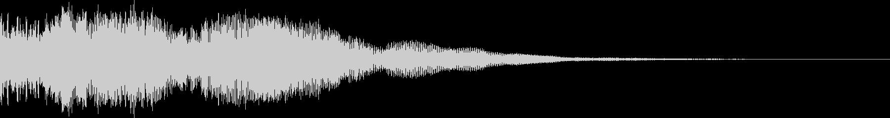 低音が響く爆発音です。の未再生の波形