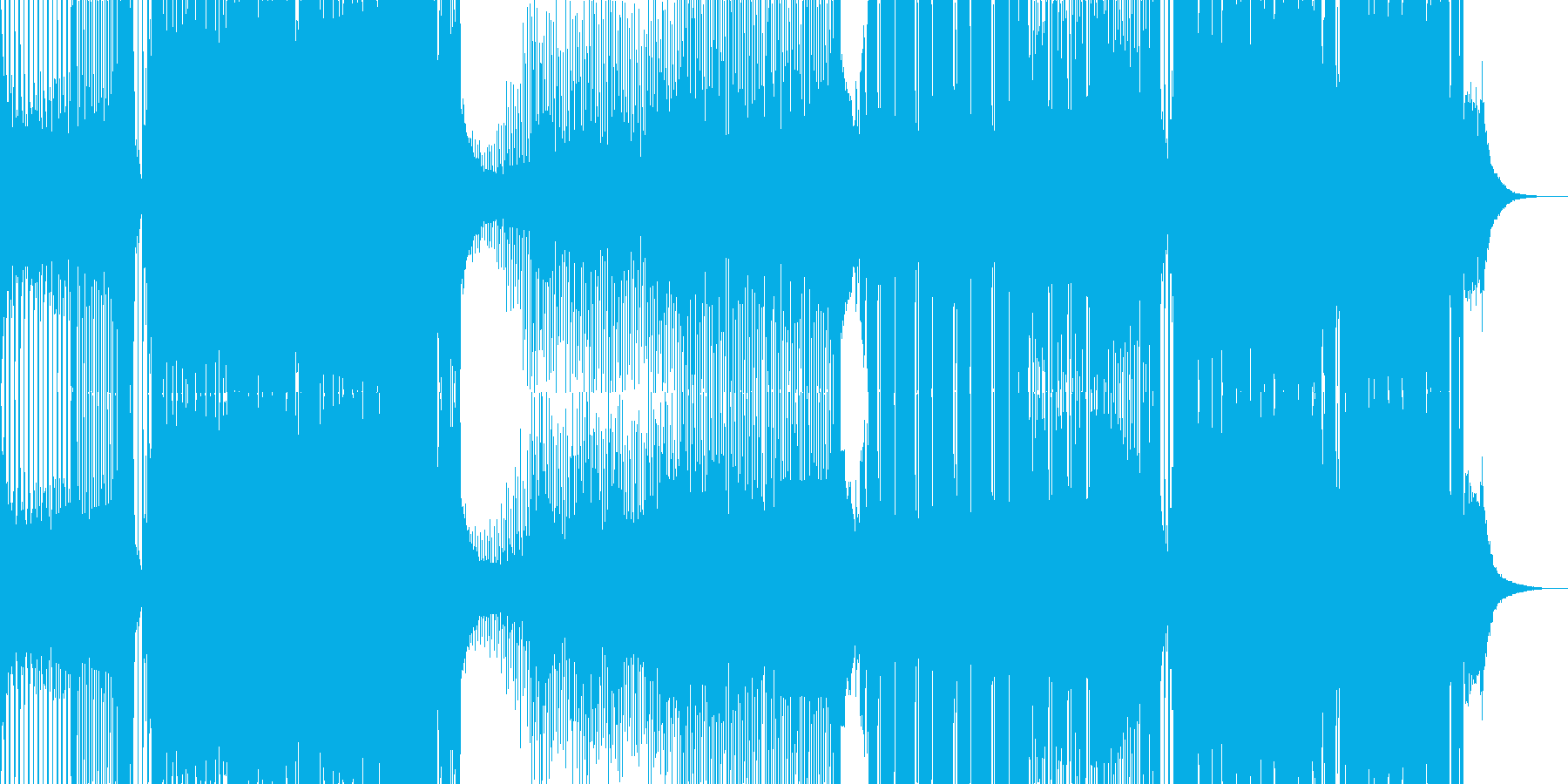 パリピ アゲアゲ ハードスタイル EDMの再生済みの波形