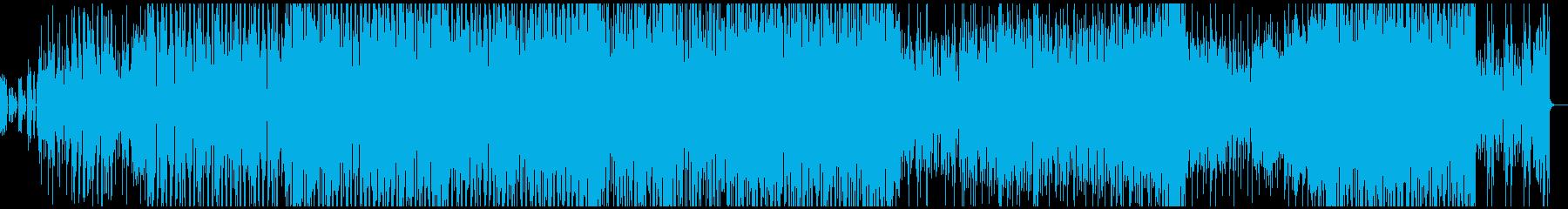 90年代のディスコを思わせるテクノポップの再生済みの波形