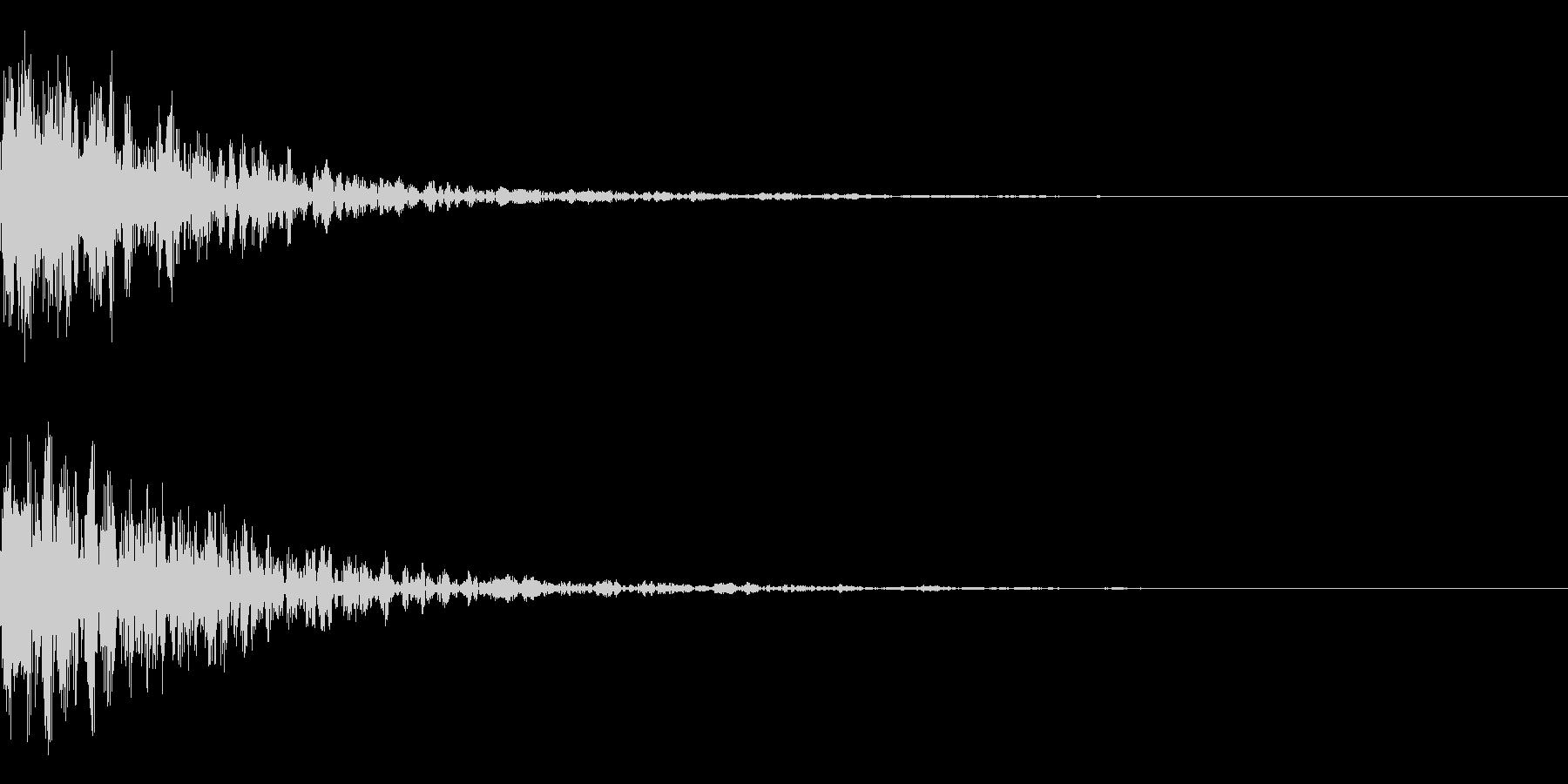 ドーン-27-1(インパクト音)の未再生の波形