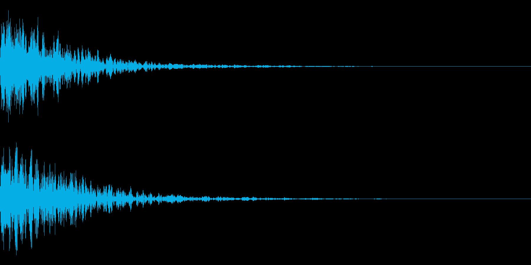 ドーン-27-1(インパクト音)の再生済みの波形