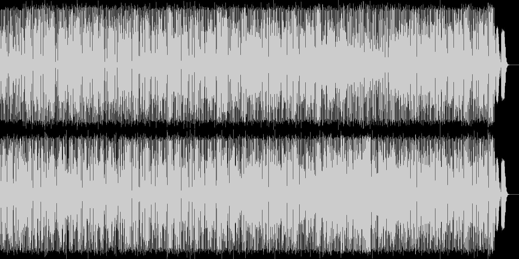 可愛い軽快なリズムとメロディのポップスの未再生の波形