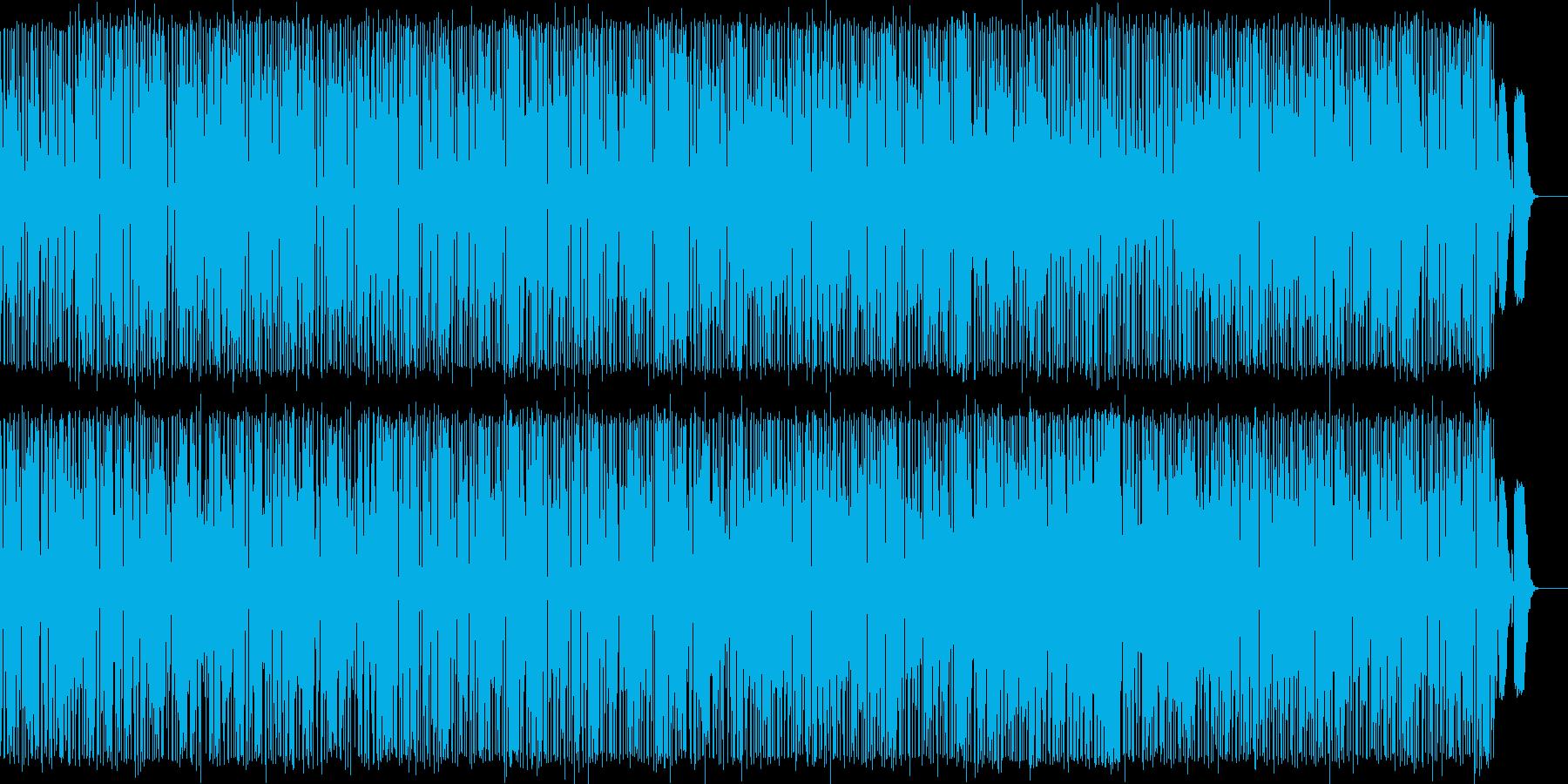 可愛い軽快なリズムとメロディのポップスの再生済みの波形