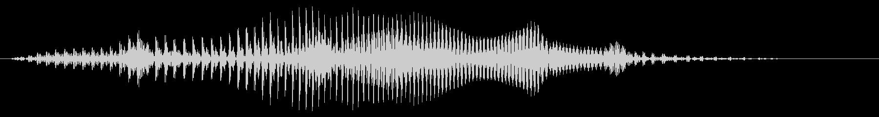 わーおの未再生の波形