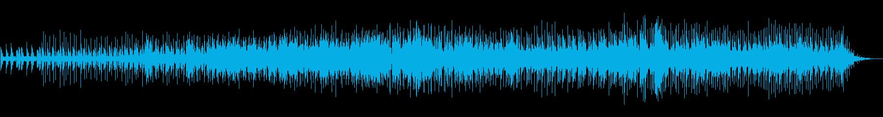 マシンドラムと哀愁あるブルージーなギターの再生済みの波形