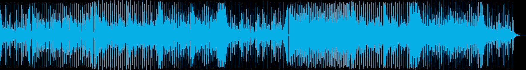 無機質で不安な気持ちを想起させる曲の再生済みの波形