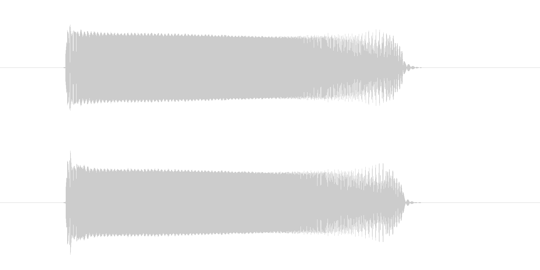 チューーーン!SF系電子音の未再生の波形