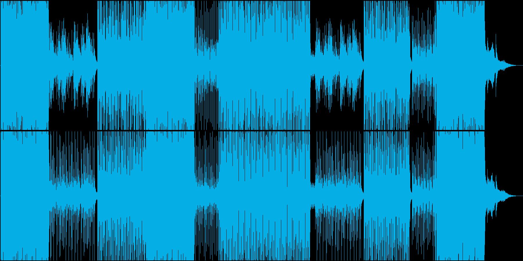 切ないメロのゆったりレガトンダンス楽曲の再生済みの波形