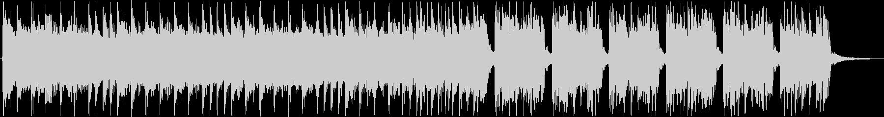 テクノポップの速さを感じる曲の未再生の波形