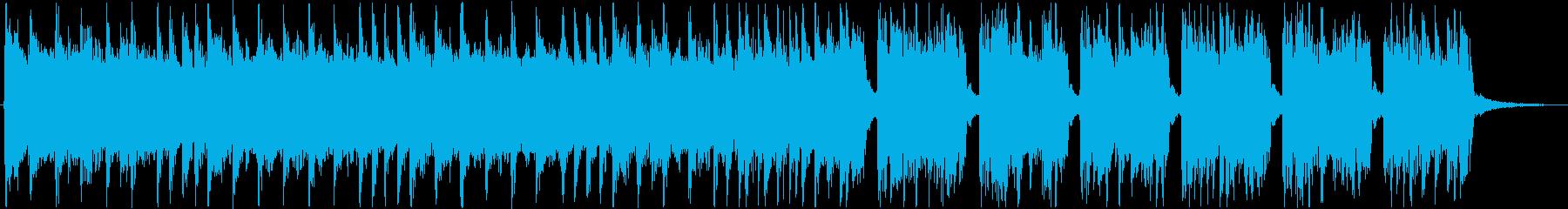 テクノポップの速さを感じる曲の再生済みの波形
