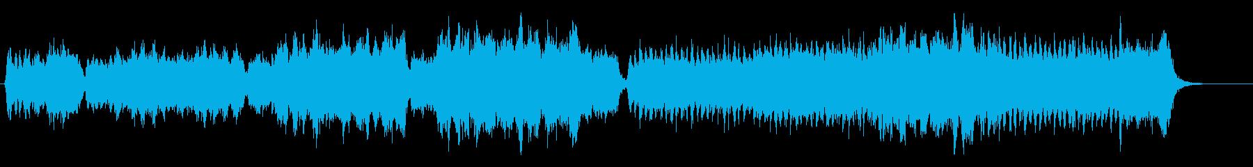 重厚な響きの躍動感あふれるオーケストラ曲の再生済みの波形