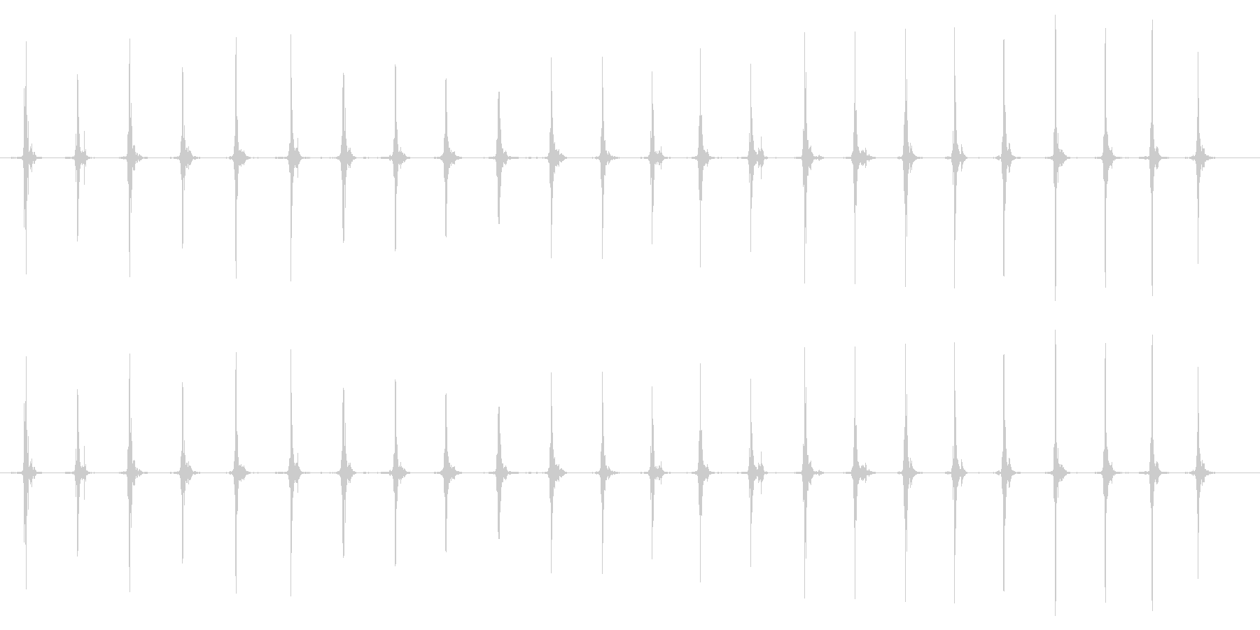 鳥 翼フラップ02の未再生の波形