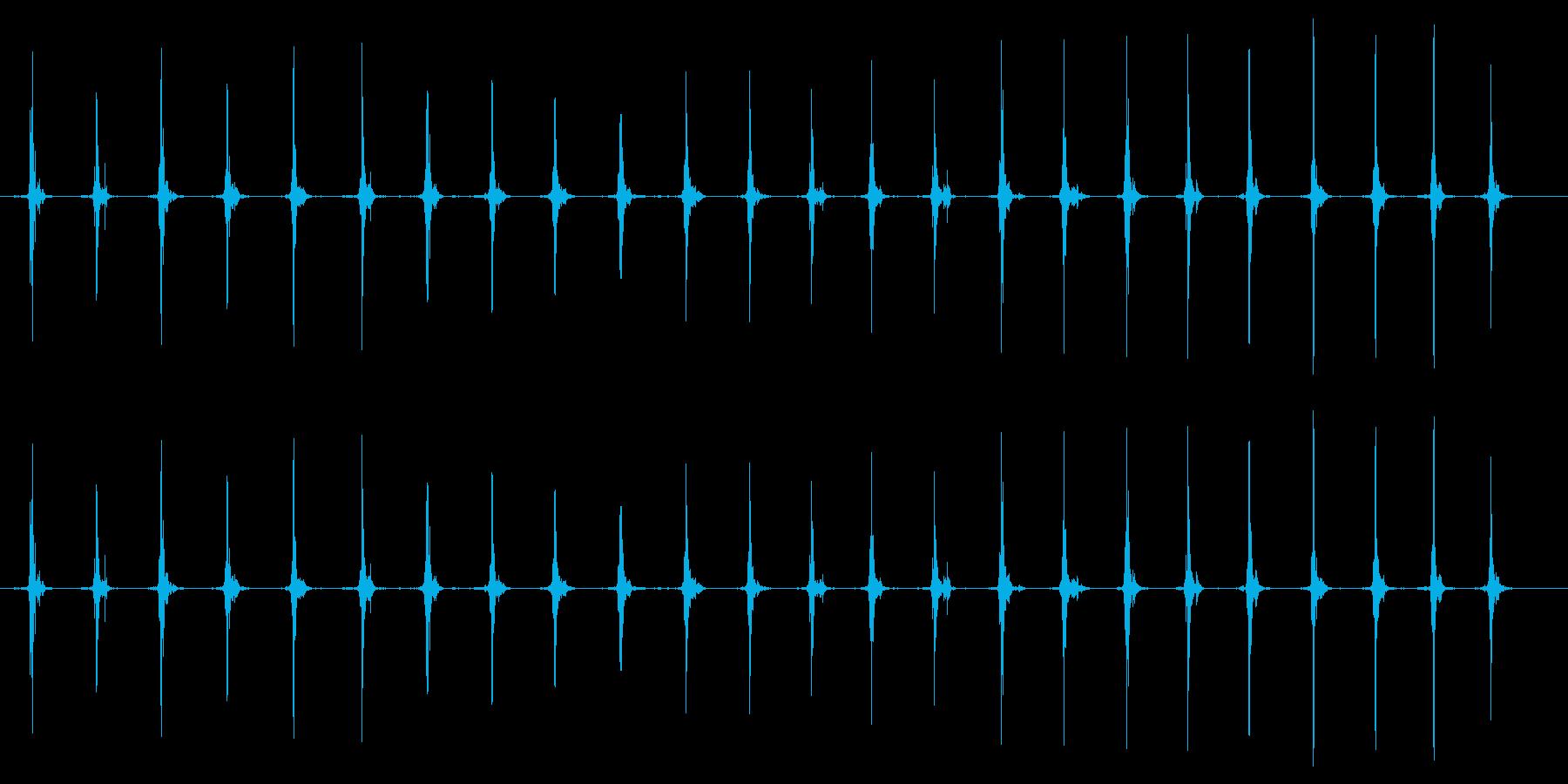 鳥 翼フラップ02の再生済みの波形