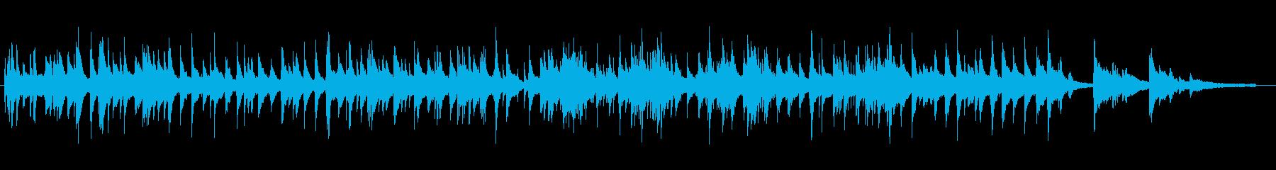 柔らかく滑らかなピアノジャズワルツの再生済みの波形