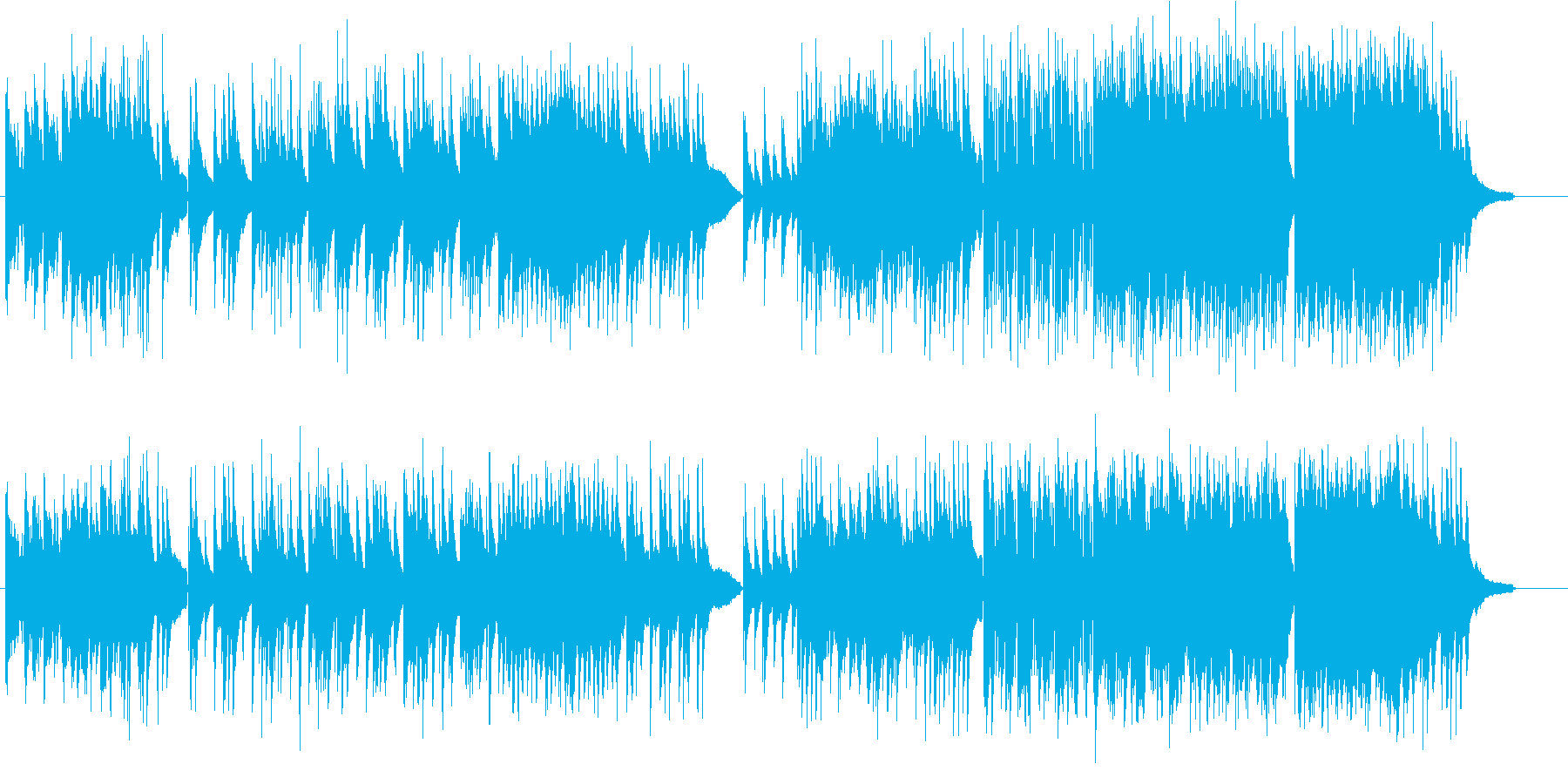 しっとり且つスケール感のあるピアノ曲の再生済みの波形