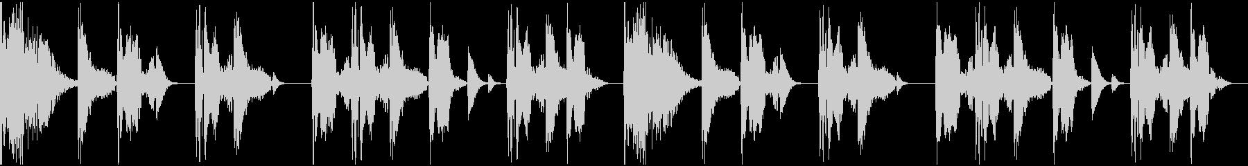 【エレクトロニカ】ロング3、ショート3の未再生の波形