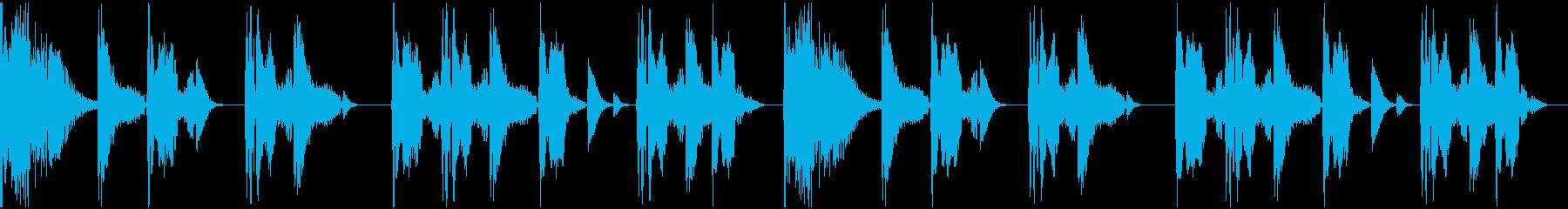 【エレクトロニカ】ロング3、ショート3の再生済みの波形