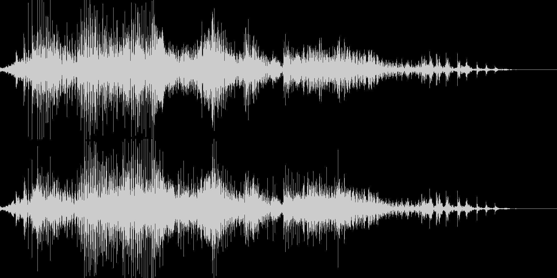 ジッパーの開閉音の未再生の波形