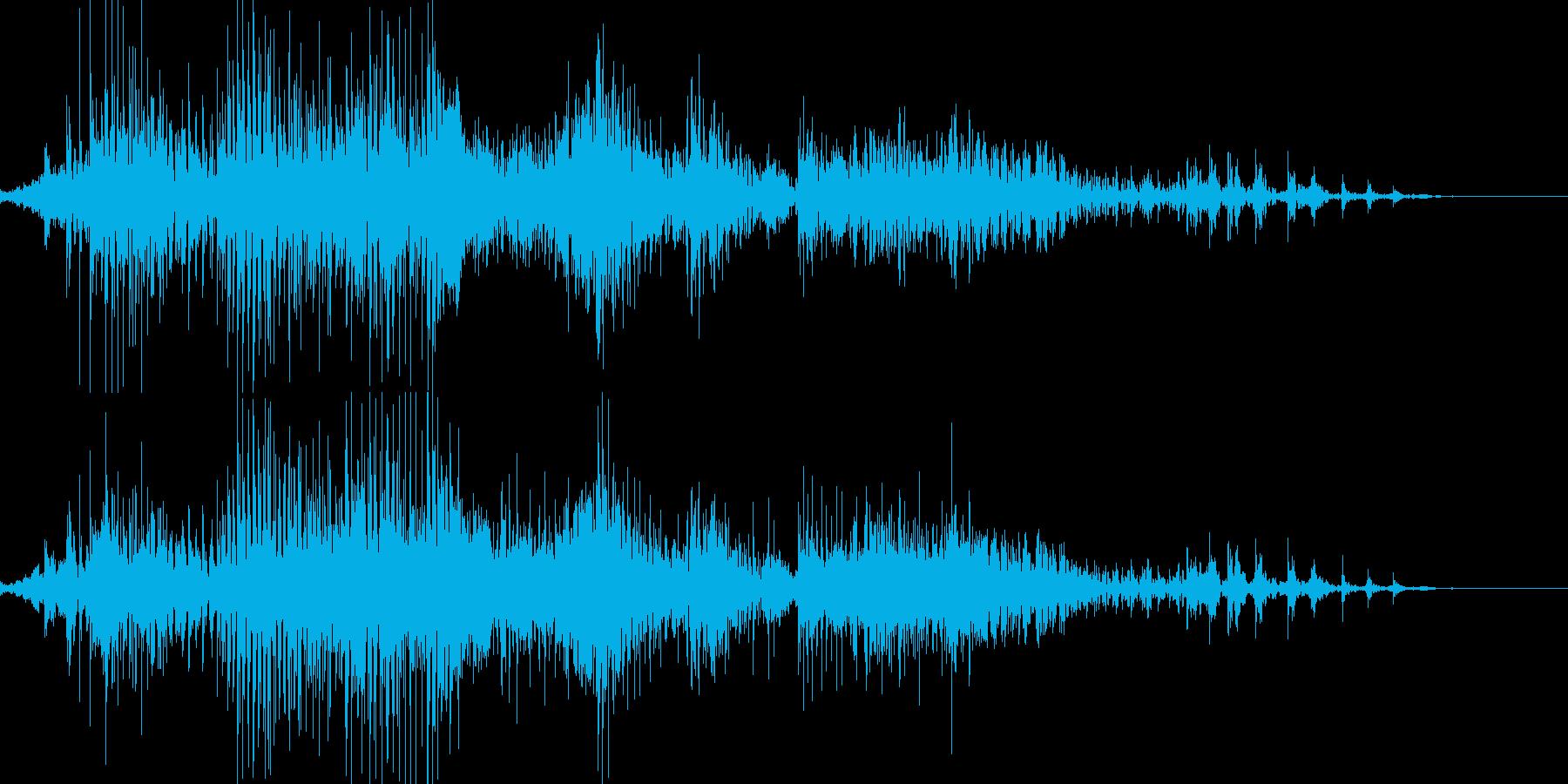 ジッパーの開閉音の再生済みの波形