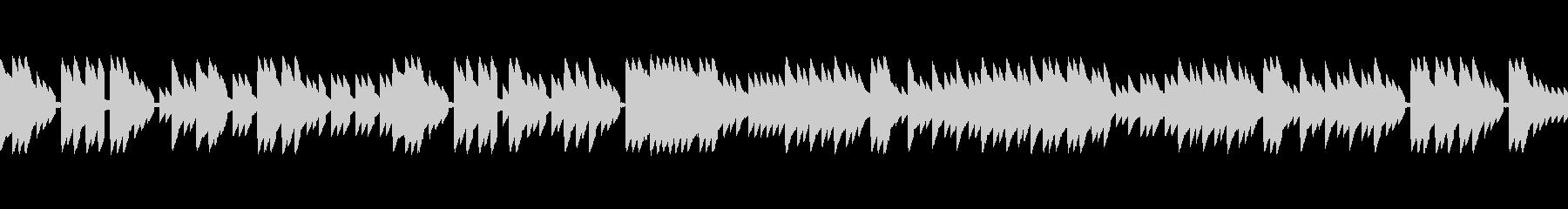 レトロゲームのフィールド曲のイメージ。の未再生の波形