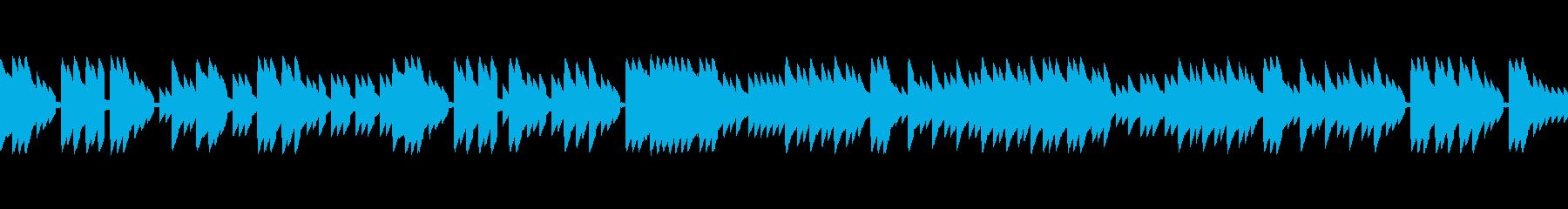 レトロゲームのフィールド曲のイメージ。の再生済みの波形