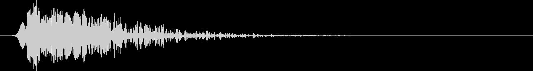 短いパンチインパクトヒット1の未再生の波形
