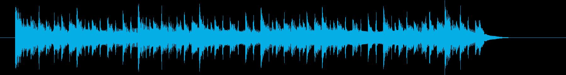 焦らす要素のあるシンキングタイムジングルの再生済みの波形