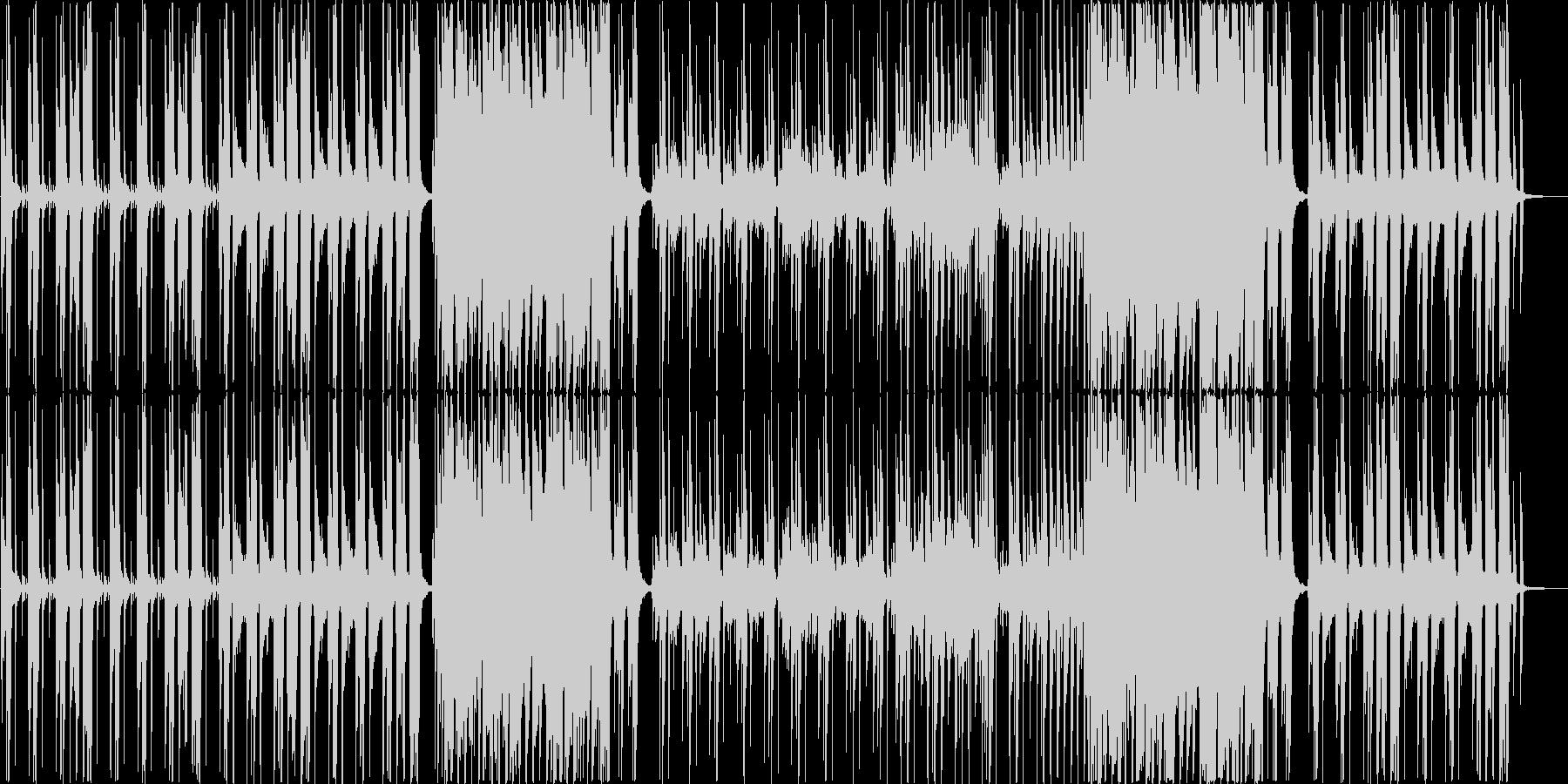 スローテンポなギターサウンドの未再生の波形