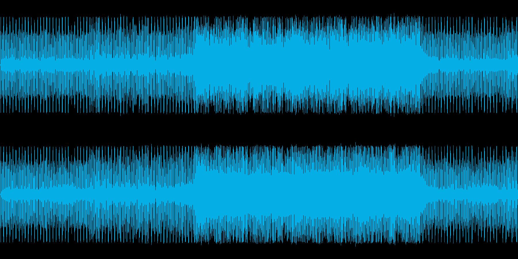アクション向き疾走感のあるチップチューンの再生済みの波形